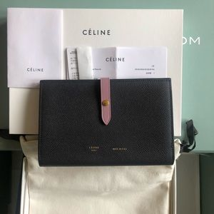 NWT Celine large Strap multifunction Wallet